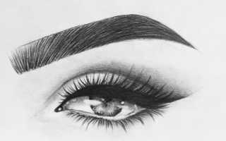 Как нарисовать брови карандашом поэтапно фото