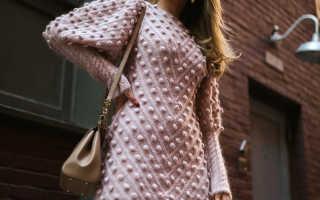 Теплое платье из трикотажа