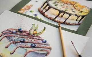 Картинки тортов на день рождения нарисованные