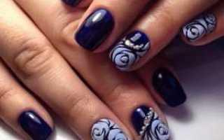 Дизайн ногтей с розами