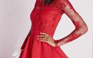 Модели платьев с длинным рукавом фото