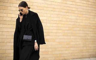 Обувь под черное классическое пальто