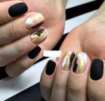 Черный маникюр на короткие ногти фото дизайн