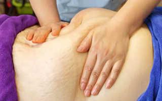 Щипковый массаж живота для похудения