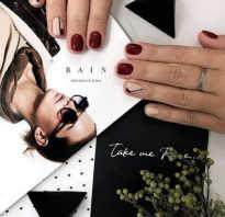 Дизайн ногтей темно бордовый