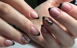 Дизайн ногтей комбинированный френч
