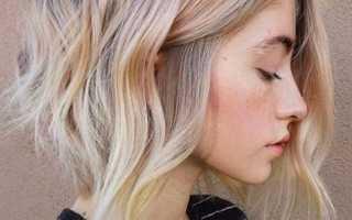 Балаяж на темные короткие волосы фото