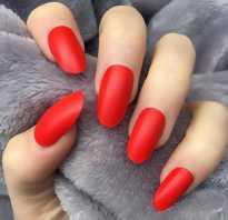 Красные глянцевые ногти