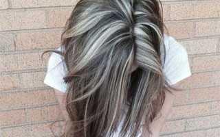 Мелирование волос с пепельным оттенком фото