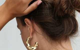 Небрежный пучок на средние волосы фото