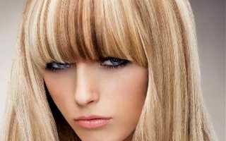 Мелированные волосы с челкой