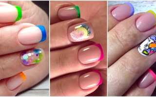Двухцветный френч на ногтях фото